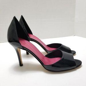 Kate Spade Black Patient Leather Heels Size 9.5